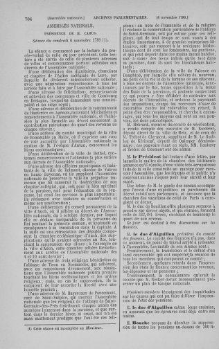 Tome 9 : Du 16 septembre au 11 novembre 1789 - page 704