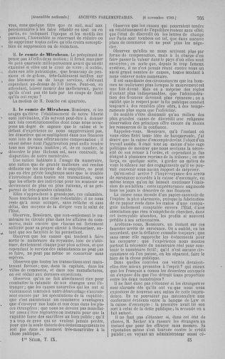 Tome 9 : Du 16 septembre au 11 novembre 1789 - page 705