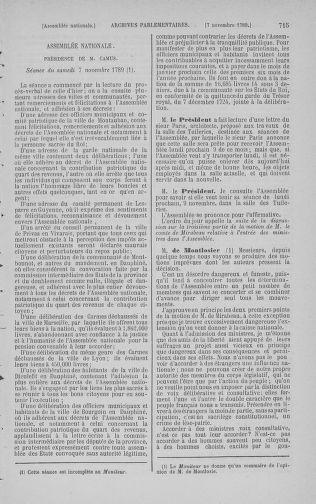 Tome 9 : Du 16 septembre au 11 novembre 1789 - page 715