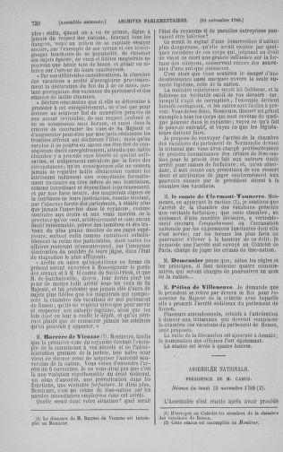 Tome 9 : Du 16 septembre au 11 novembre 1789 - page 730