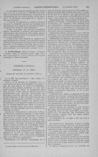 Tome 9 : Du 16 septembre au 11 novembre 1789 - page 743