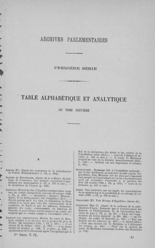 Tome 9 : Du 16 septembre au 11 novembre 1789 - page ..