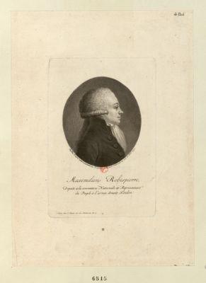 Maximilien, Robespierre deputé à la Convention nationale et réprésentant du peuple à l'armée devant Toulon : [estampe]