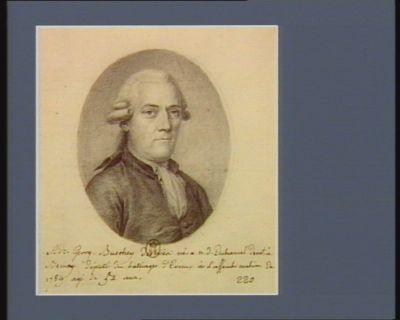 Adr. Georg. Buschey desnoes né à n.d. Duhamel dem.t à Bernay, député du balliage d'Evreux à L'assemb. <em>nation</em>. de 1789 agé de 52 ans : [dessin]