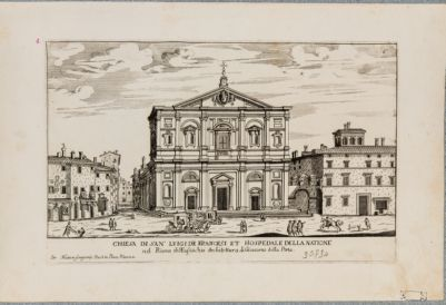 Chiesa di S. Luigi dei Francesi, prospetto