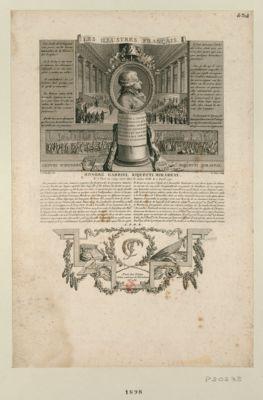 Les  Illustres français, Honoré Gabriel Riquetti Mirabeau né <em>à</em> Paris en 1749, mort dans la même ville le 2 avril 1791. Des passions vives, une jeunesse orageuse... Il est peut-être le premier français qui ait été <em>à</em> portée par les circonstances de rendre <em>à</em> sa patrie d'aussi importants services : [estampe]