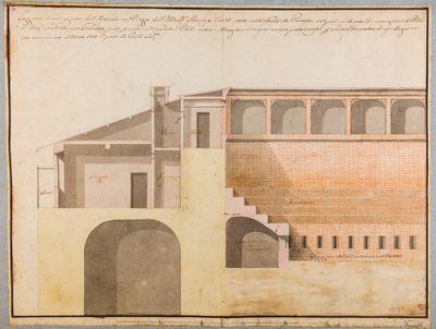 Sezione di una porzione dell'Anfiteatro nel Palazzo dell'Ill.mo Marchese Vivaldi