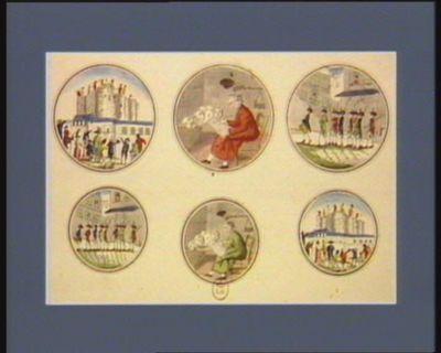 [Démolition de la <em>Bastille</em>] [Le Calculateur patriote] ; [Vue et perspective de la lanterne] ; [Démolition de la <em>Bastille</em>] : [estampe]