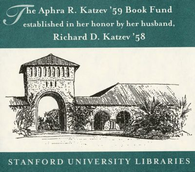 The Aphra R. Katzev '59 Book Fund