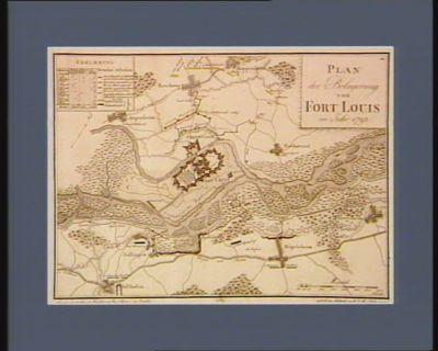 Plan der Belagerung von Fort Louis im Jahr 1793 [estampe]