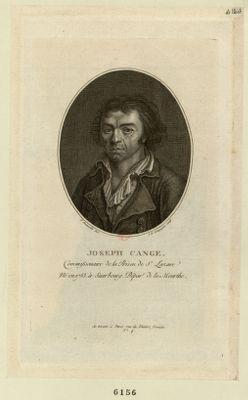 Joseph Cange commissionnaire de la prison de St Lazare, né en 1753 à Saarbourg dépar.t de la Meurthe : [estampe]