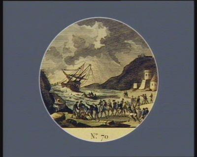 N.o 70 9 aout. Acte de devouement sublime envers les naufragés d'un vaisseau échoué dans le golfe de Lion... : [estampe]
