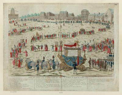Ordre du Cortege pour la Translation des Manes de Voltaire le lundi 11 Juillet 1791 [estampe]