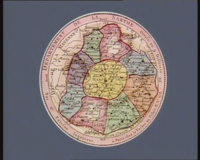 Departement de la Sarthe divisé en 9 districts : [estampe]