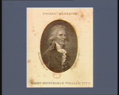 Right honourable William Pitt [estampe]
