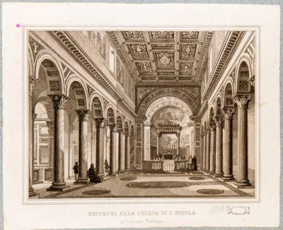 Foro Olitorio, interno della Chiesa di S. Nicola in Carcere