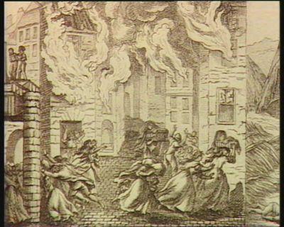 [<em>K</em>. Incendie de la ville de Bedouin par ordre du representant du peuple Maignet] [estampe]