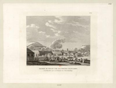 Reprise de Toulon par les troupes françaises le 18 décembre 1793, ou 28 frimaire an 2.e de la République. : [estampe]