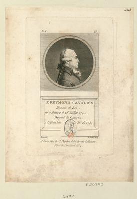 J.n Reymond Cavaliès homme de loi né à Trivisy le 26 juillet 1742 deputé de Castres à l'Assemblée n.le de 1789 : [estampe]