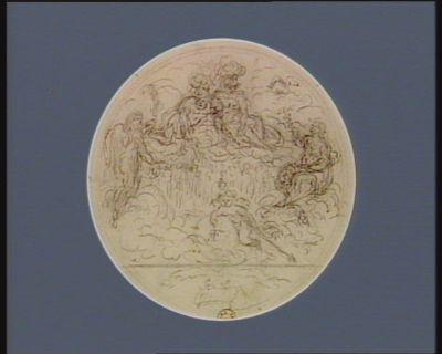[Jupiter, Minerve et Cerès veillent sur un globe frappé des initiales R.F.] [dessin]
