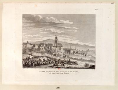 Entrée triomphante des Français dans Berne le 25 ventose, an VI.e de la République : [estampe]