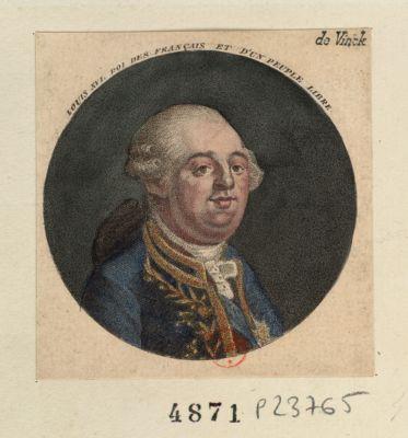 Louis XVI , Roi des français et d'un peuple libre [estampe]