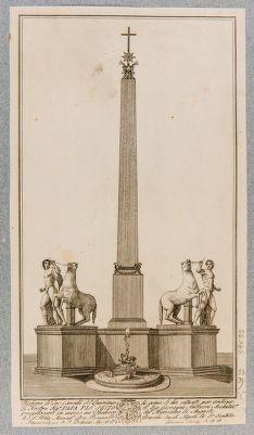 Fontana dei Dioscuri al Quirinale, progetto di sistemazione