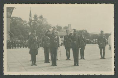 Wang Jingwei inspects Chinese troops