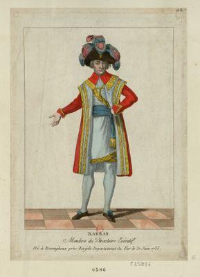 Barras membre du Directoire exécutif né à Foxemphoux près Barjole departement du Var le 31 [i.e. 30] juin 1755 : [estampe]