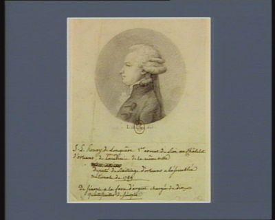 J.L. Henry de Longuêve 1.er avocat du Roi au Châtelet d'Orléans, de l'académie de la même ville député du bailliage d'Orléans à l'Assemblée nationale de 1789 : [dessin]