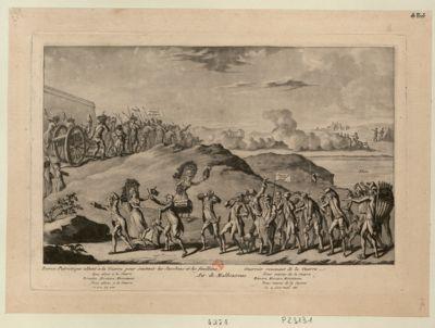 Recrue patriotique allant à la guerre pour soutenir les jacobins et les feuillants. Guerrier revenant de la guerre [estampe]