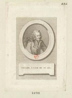 Voltaire, <em>à</em> l'âge de 70 ans [estampe]