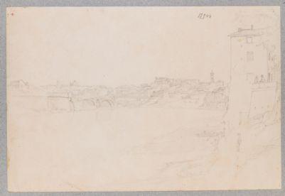 Ponte Rotto o Emilio, veduta generale del ponte con l'aggiunta della parte pensile in ferro