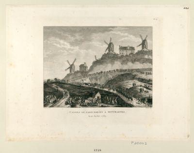 Canons de Paris portés à Montmartre le 15 juillet 1789 : [estampe]