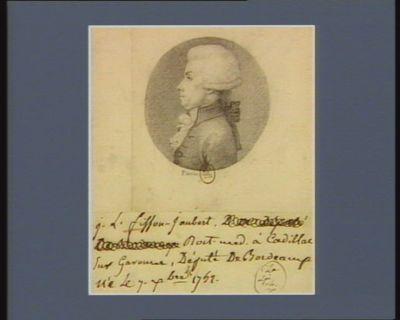 J.L. Fisson-Jaubert doct. med. à Cadillac sur Garonne député de Bordeaux né le 7 X.bre 1742 : [dessin]