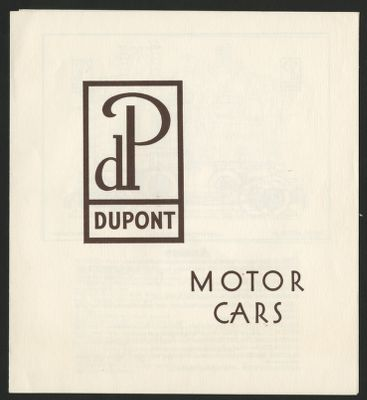DuPont Speedster (1930) Car Life Classic April 1966