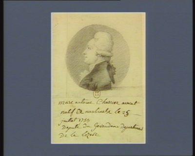 Marc Antoine Charrier natif de Nasbinals le 25 juillet 1755 député du Gévaudan département de la Lozère : [dessin]