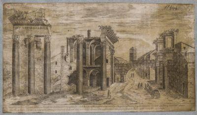 Foro Transitorio, veduta d'insieme dei resti del tempio di Minerva