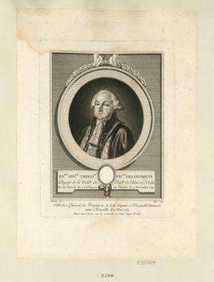 Fr.ois Jos.ph Theod.re vic.te Desandrouin deputé de la nobl.se des bail.ges de Calais et d'Ardes né au château du Lodelinsart en Flandre, le 9 decembre 1740 : [estampe]