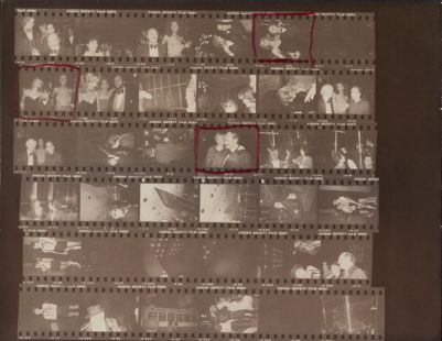 [Halston's birthday party for Steve Rubell at Olympic Towers and at Studio 54, Lester Persky, Cheryl Ladd, Truman Capote, Lorna Luft, Andy Warhol, Rollerena]