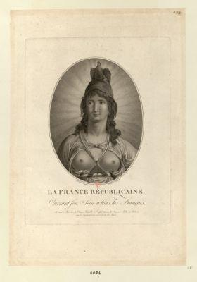 La  France républicaine ouvrant son sein à tous les Français : [estampe]