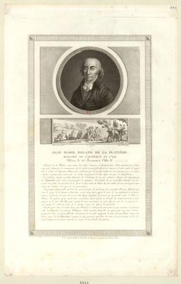 Jean Marie Roland de la Platière, ministre de l'intérieur en 1792 [estampe]