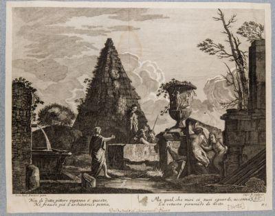 Piramide di Caio Cestio, veduta fantastica