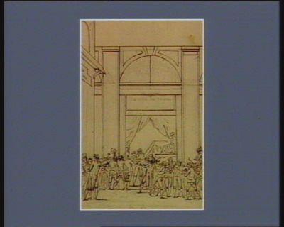[Evénement du douze juillet <em>1789</em>. Le matin] [dessin]