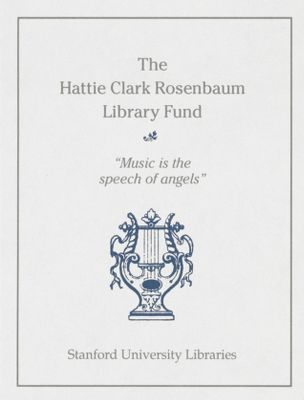 The Hattie Clark Rosenbaum Library Fund