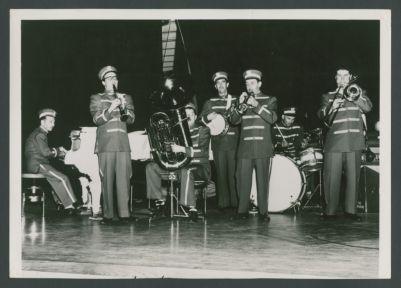 1950 Turk Murphy Jazz Band with Skippy Anderson, Bill Napier, George Bruns, Pat Patton, Don Kinch, Stan Ward and Turk Murphy