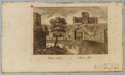 Porta Pia, veduta generale dell'esterno