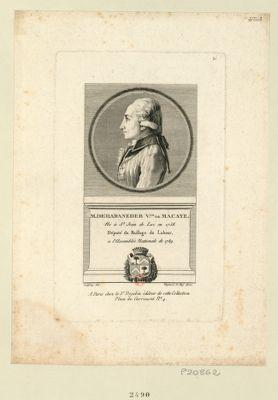 M. de Haraneder v.te de Macaye né à St Jean de Luz en 1758. Député du baillage du Labour, a l'Assemblée nationale de 1789 : [estampe]