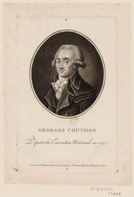 Georges Couthon député à <em>la</em> <em>Convention</em> nationale en 1792 : [estampe]