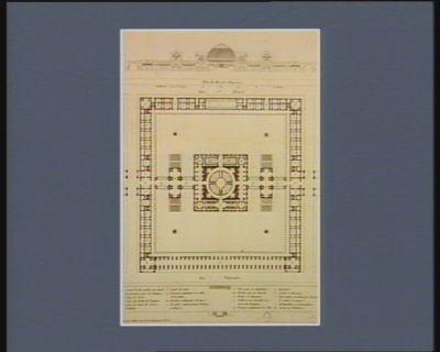 Projet d'un monument pour l'Assemblée nationale coupe sur la largeur : plan du rez de chaussée : [estampe]